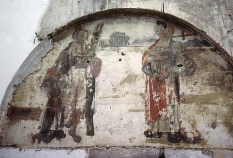 Thorn, ehem. Frauenstiftskirche St. Maria, Wandmalerei hinter dem Sakramentsaltar, Anfang 16. Jahrhundert